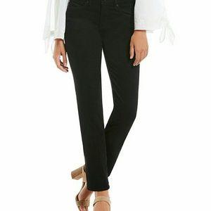 🆕 NYDJ  NWT Black Marilyn Straight Leg Jeans sz 8
